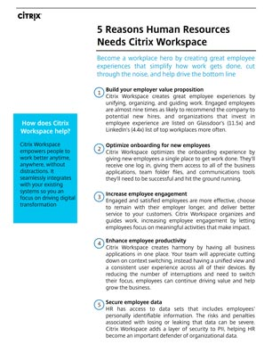 5 Reasons HR Needs Workspace - White Paper